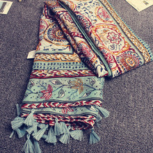 KYQIAO Head scarf 2019 New women girls spring autumn designer long bohemian ethn