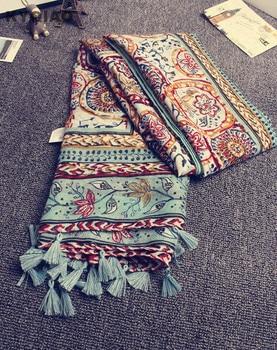 KYQIAO Head scarf 2020 New women girls spring autumn designer long bohemian ethnic soft print