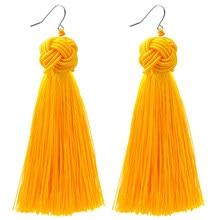 Ethnic Chinese Style Braided Rope Knot Fringe Earrings Boho Bohemian Handamde Long Tassel Earrings For Women Engagement Jewelry
