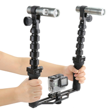 Camera Handheld Stabilizer Shooting Kit with Diving Flashlights for GoPro 4 5 3 SJCAM SJ4000 Xiaomi Yi 4K Eken h9