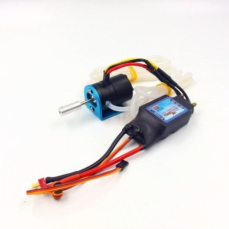 Moteur sans brosse de bateau de radiocommande de passe-temps de RC avec le système de puissance ESC combiné 3536 1700KV 125A ESC refroidissement par eau imperméable