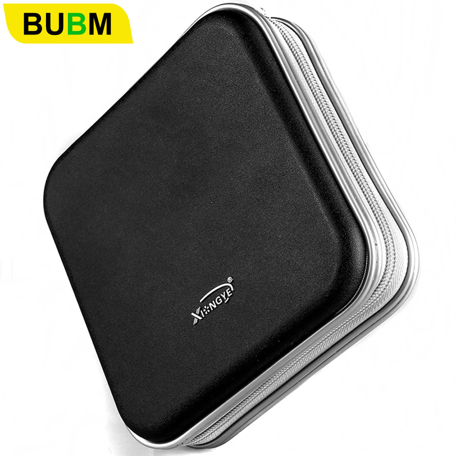 цена на BUBM Durable CD Case 40pcs Discs Portable CD Bag DVD Case Storage Holder DVD Bag Fashion Useful CD Case For Car DVD Bags
