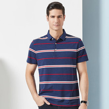 2019 new arrival summer high quality 95% cotton striped mens polos ,casual men,plus-size