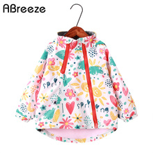 2020 New spring autumn children top clothes 2 9Y girls hooded jackets fashion animal floral print outerwear coats for girls