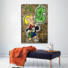 Alec Monopoly Richie Rich Canvas Painting Print Living Room Home Decoration Artwork Modern Wall Art Oil Posters Picture