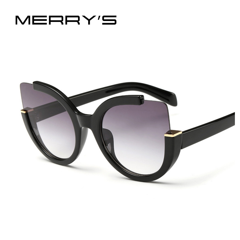 New Fashion Cat Eye font b Sunglasses b font Women Brand Designer Vintage Flash Color Mirrored