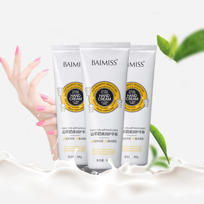 Goat Milk Essence Hand Cream Nourishing SkinCare Anti Chapping Anti Aging Moisturizing Whitening Cream HandCare 1 bottle