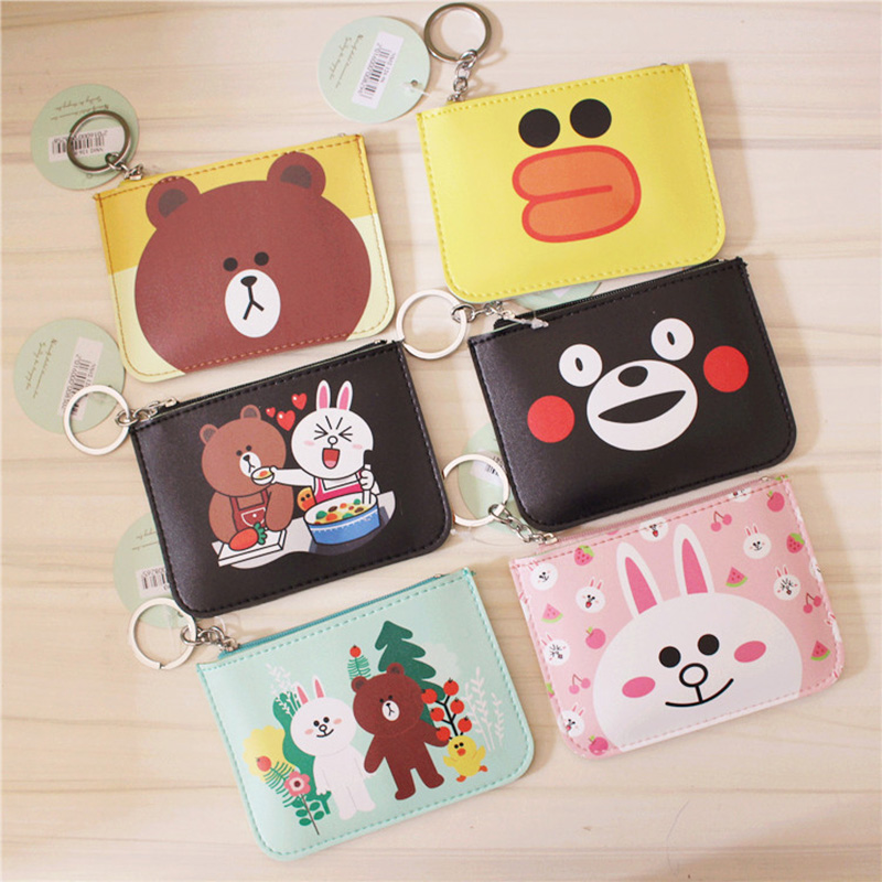 Mini Cartoon Coin Purse Bear Rabbit Pattern For Children Girls Cute Cheap Coin Pocket Small Card Holder Case Money Bag Wallets cute cats coin purse pu leather money bags pouch for women girls mini cheap coin pocket small card holder case wallets