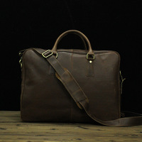 The First Layer Of Genuine Leather Bag Retro Crazy Horse Portable Shoulder Messenger Bag Leisure Travel