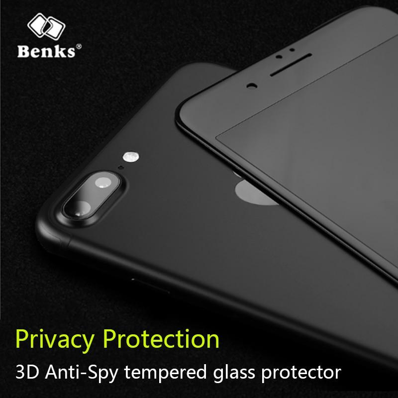 Galleria fotografica Benks Privacy Protection Screen Protectors For Iphone X Iphone 8 Iphone 7 Iphone 6 Anti Spy 3D Tempered Glass Films
