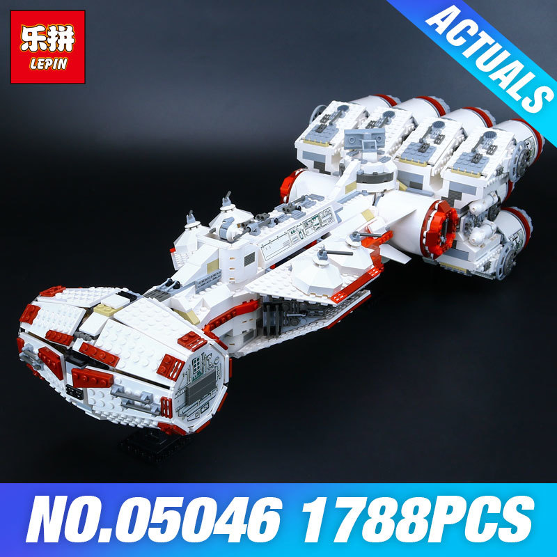 Lepin 05046 Star 1748Pcs Series Wars The Tantive IV Blockade Runner Building Blcoks Bricks Model DIY toys for children 10019 taming the star runner