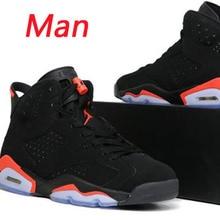 new products 9707a 0d2c1 Los hombres Jordan Retro 6 zapatos de baloncesto 6 mujeres negro  infrarrojos deporte al aire libre
