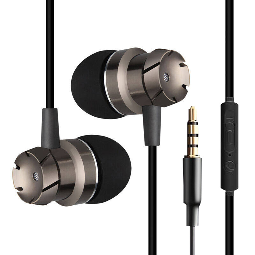 Metal In Ear Earphones Turbo Bass Wired in-ear 3.5mm Wired Headset Earphone with Microphone Universal for Computer Mobile Phone newest plextone x33m in ear earphones with microphone brand hot super bass wired portable headset for mobile phone ipad mp3 mp4