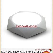 20 шт. ультра-тонкий 6 Вт 12 Вт 18 Вт 24 Вт Алмазная квадратная панель СВЕТОДИОДНЫЙ Алюминиевый Светодиодный точечный светильник поверхностного монтажа Потолочный светильник