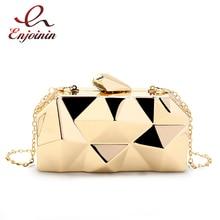2014 new fashion geometric three-dimensional metal chain ladies handbag evening bag day clutches mini wedding party bag цена