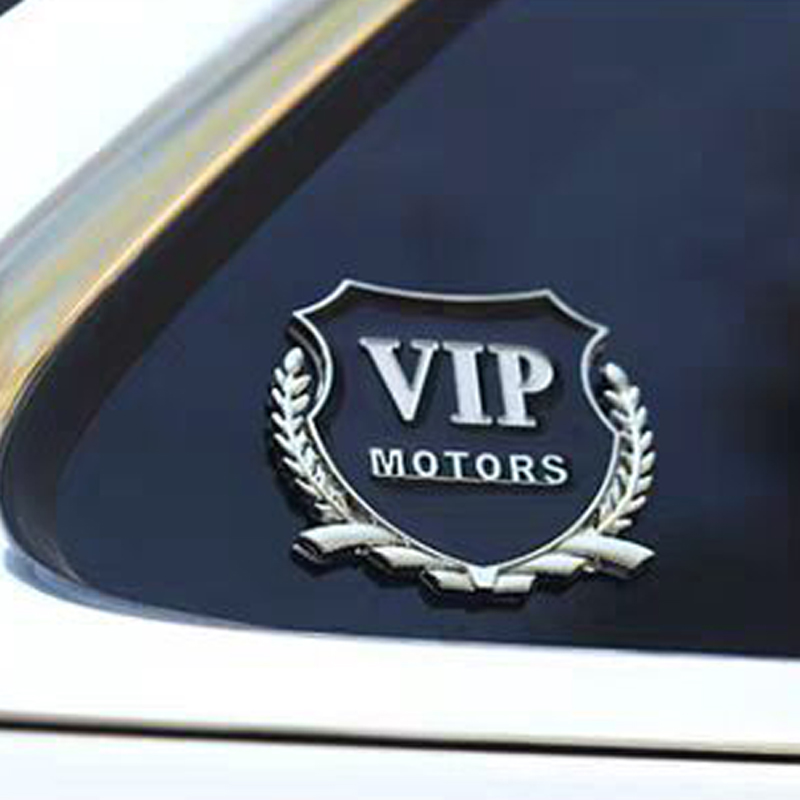 Blue//Chrome Sign mark Badge Decal logo Rear Trim Block Emblem Plate