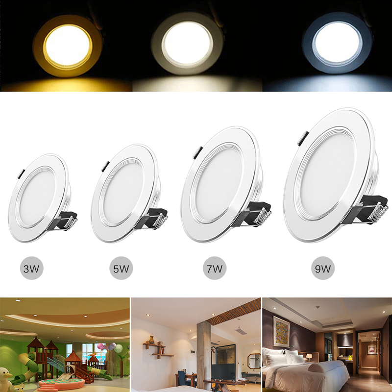 Dimmable 3W 5W 7W LED Recessed Ceiling Down Bulb Lamp Spotlight Cool Warm White