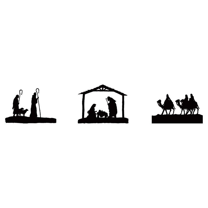 Hirten Bilder Weihnachten.Us 3 18 20 Off Krippen Aufkleber Aufkleber Neue Jahr Vintage Weihnachten Geschenk Für Freunde Drei Kluge Männer Hirten Weihnachten Christian Glas