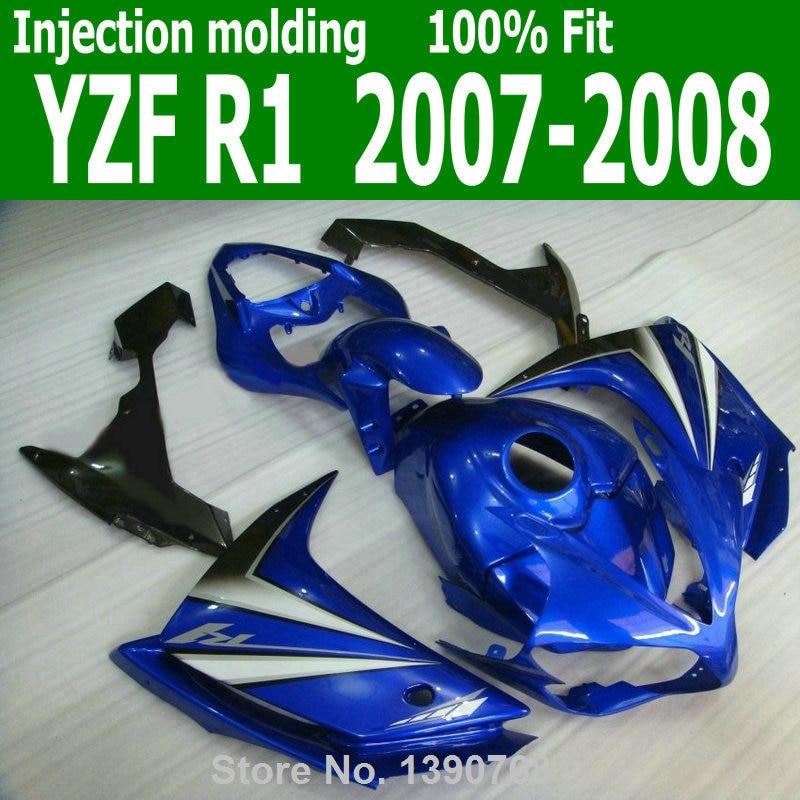 ABS Fairings body kitFor YAMAHA YZF R1 07 08 ( Metallic Blue ) 2007 / 2008 Injection molding fairing kit lx07 встраиваемый спот точечный светильник lucide recessed 11800 21 12