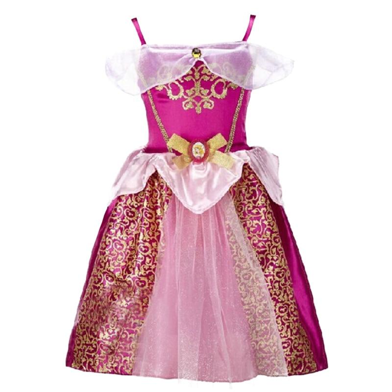Girls Dress Belle Cinderella Dress Rapunzel Elsa Costume Snow White Girls Christmas Dress Kids Halloween Costume Vestidos elsa anna doll clothes dress for 16inch 40cm sharon prince doll dress for cinderella princess belle rapunzel snow white