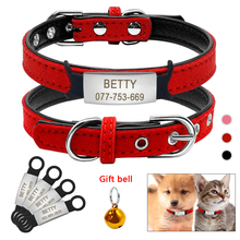 Soft Cat Collar and Tag Set Cat Dog Collars Personalized Padded ID Collars Puppy Pet For Small Medium Cats Free Bell XXS fashion cat collars