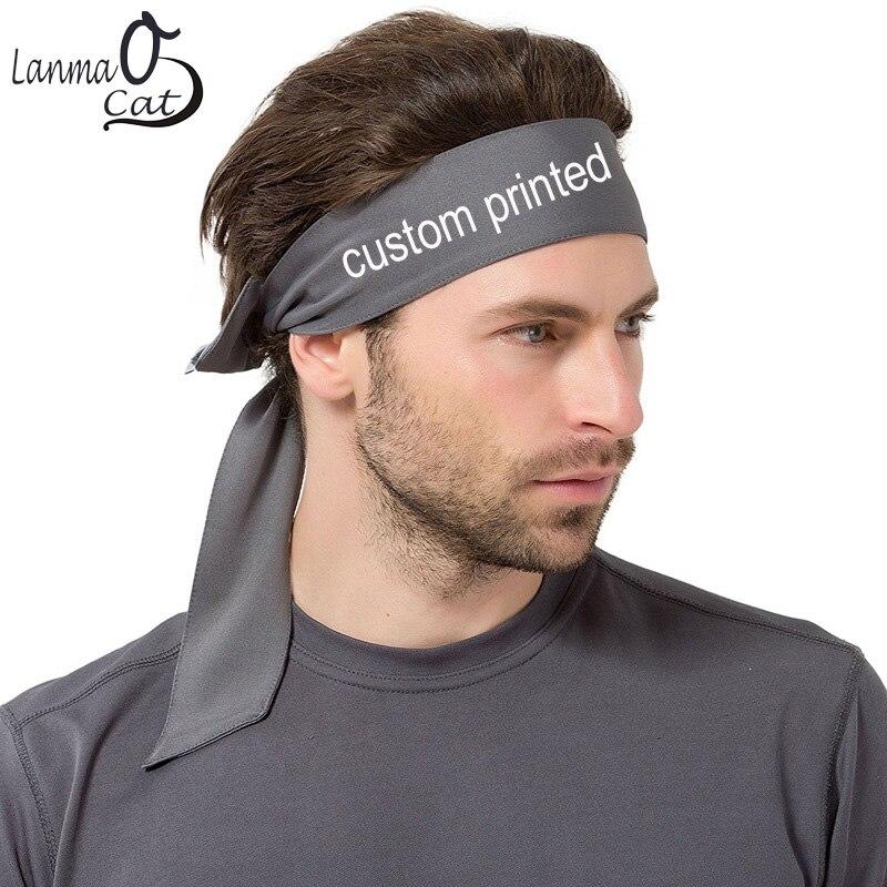 Lanmaocat Sport Headband for Women Men Custom Logo Print Outdoor Sport Headband Blank Color Customized   Headwear   Free Shipping
