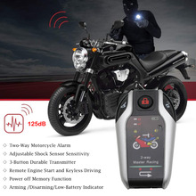 Universal Motorcycle Alarm System Scooter Bike Anti-theft Security Alarm Two-way Remote Control Engine Start Theft Protection