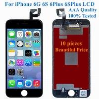 10 шт. AAA для iPhone 6 6 S Plus 6 P 6SP ЖК дисплей с сенсорным экраном дигитайзер сборка замена 100% Протестировано без битых пикселей