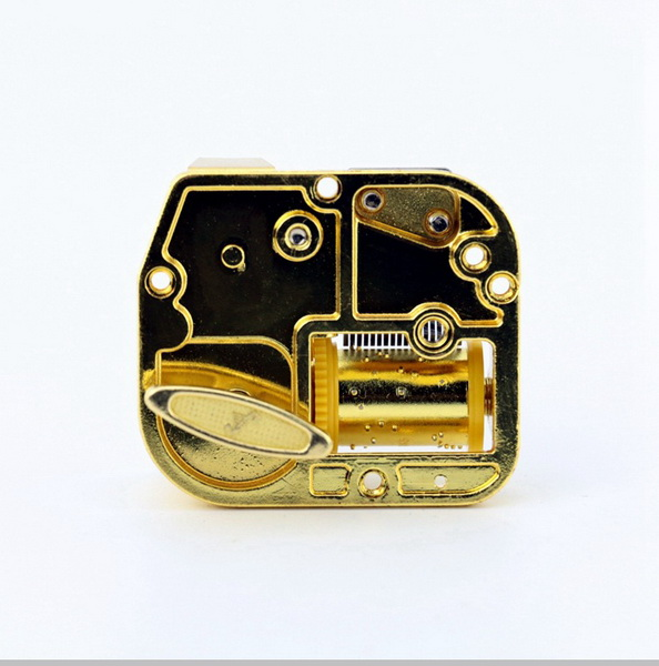 by dhl 100set practical 18 Notes DIY Mechanical Musical Box Golden Movement Screws Castle In The