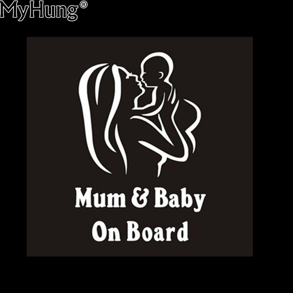 Us 31 12 Offkreative Mama Baby An Bord Auto Lkw Aufkleber Wasserdicht Lustige Vinyl Fenster Decals Zubehör Neueste Auto Aufkleber Für Alle