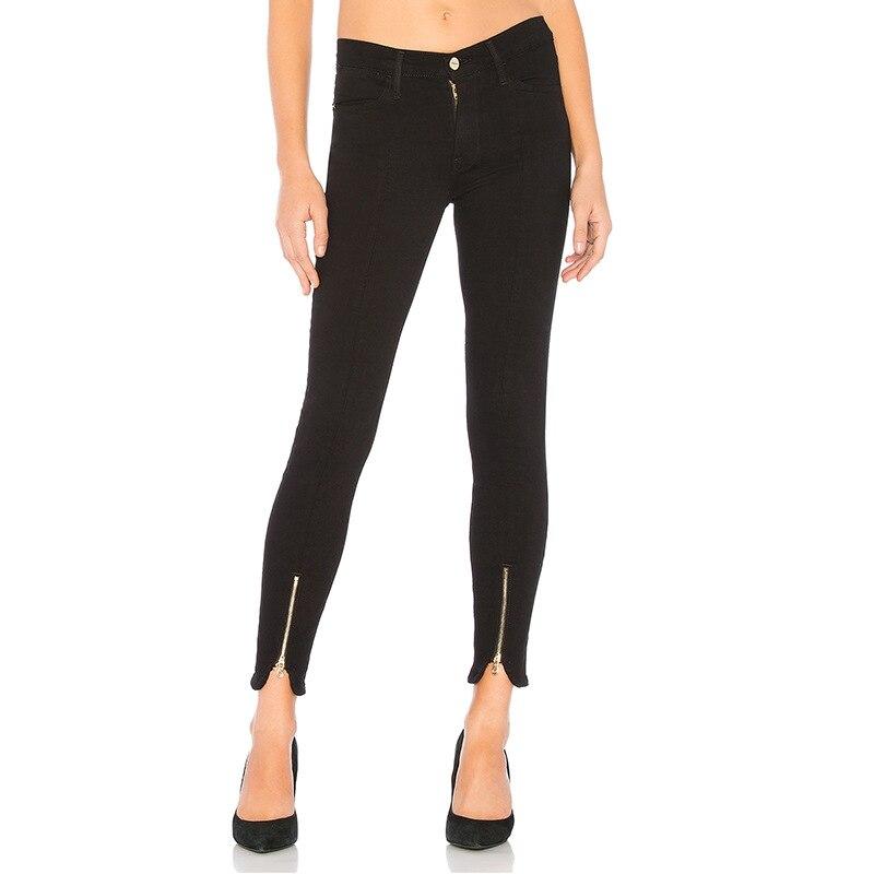 Бесплатная доставка, 2019, длинные штаны для женщин, расклешенные брюки, 25 30 размер, джинсовые женские длинные тянущиеся зимние и осенние джин... - 6
