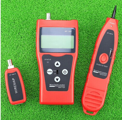 NF-308 Multipurpose Network Cable Test Hunting wire sorting cable length test 5E 6E cable coaxial RJ45  цены