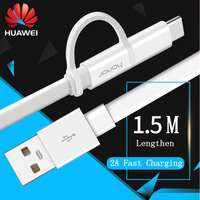 Original HUAWEI USB C Cable 2 In 1 Micro USB Cable USB Type C Cable Quick