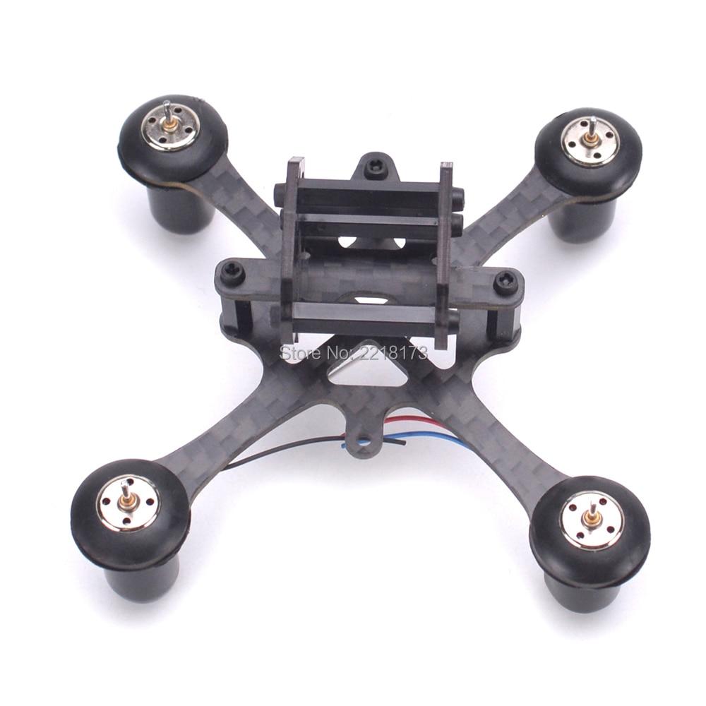 EYAS 55 7mm/8mm pure carbon fiber Brush Coreless quadcopter frame para DIY FPV micro indoor mini drone