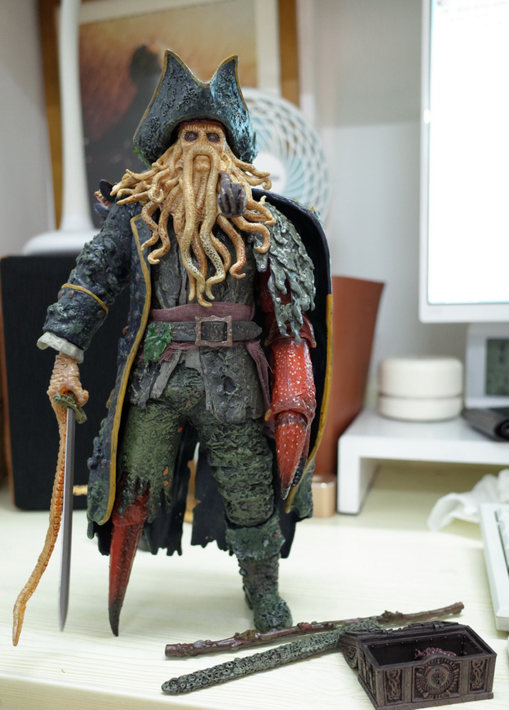 1/6 Caribbean Captain Action Figure Davy Jones figure doll full set doll With ACC Colletible Model Toys And original box 11