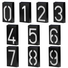 Solar Digital Doorplate Lighting Control Wall Light LED House Number Villa Garden