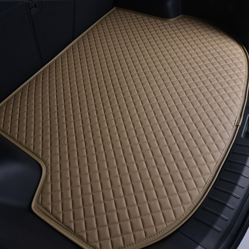 Leather Trunk Mat for Toyota 86 FJ Cruiser RAV4 Crown Reiz Corolla Camry Land Cruiser Prado Coaster Vios Prius Boot Mat Tray d10