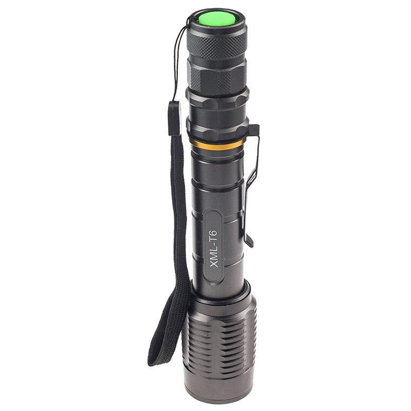 5000 Lumens High Power Strobe Led Flashlight T6 Bulb Led Hand Torch Lantern Waterproof Night Lighting for Outdoor Activity