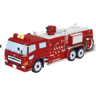 Chemical Fire Truck 3D Paper <font><b>Model</b></font> <font><b>Car</b></font> Paper <font><b>Model</b></font> Truck <font><b>Car</b></font> Diecast <font><b>1</b></font>:<font><b>43</b></font> <font><b>Scale</b></font> Toy Handmade DIY Handmade Origami Active Origami image