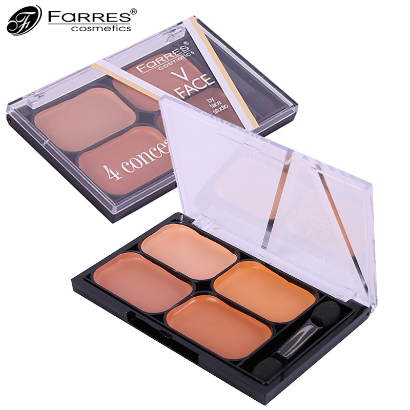 New Professional 4 Colors Makeup Concealer Palette Hide Blemish Base Foundation Primer Nude Contouring Cream Palette Make Up