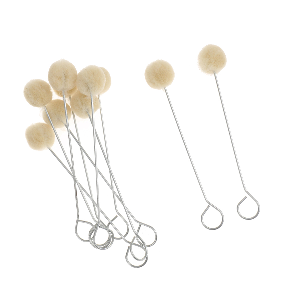 10 Pieces Wool Daubers Ball Brush Leather Dye Tool For Leathercraft DIY Crafts