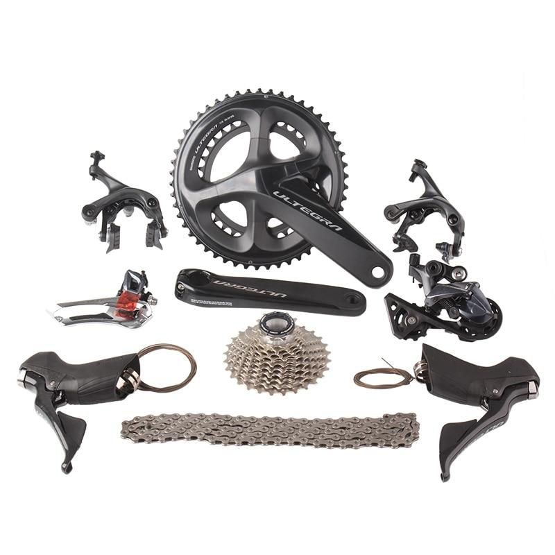 Shimano ULTEGRA R8000 2x11 22 s Velocità 50/34 53/39 52x36 t 170mm 172.5mm Strada bicicletta Gruppo A Deragliatore Kit