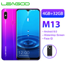 LEAGOO M13 мобильный телефон Android 9,0 6,1 ''HD ips экран капли 4 ГБ 32 ГБ MT6761 3000 мАч 8MP двойная камера Face ID 4G смартфон