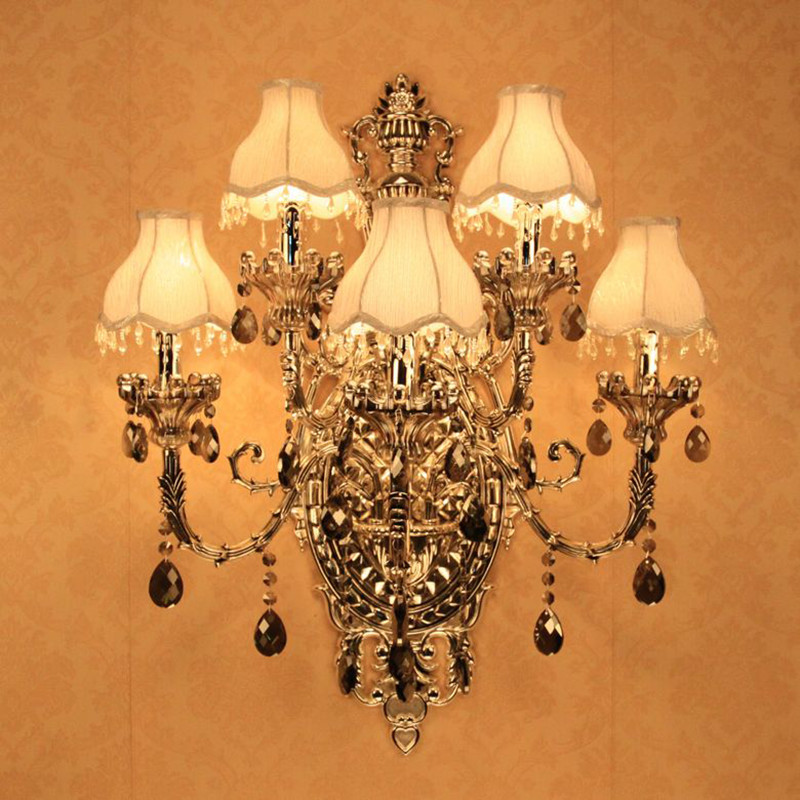 Fashion Crystal Wall Sconce Lighting 5 Candle Wall Light Romantic