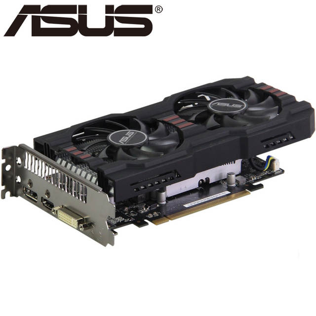 ASUS Video Card R7 260X 2GB 128Bit GDDR5 Graphics Cards for AMD Radeon  R7260X VGA Cards Used Equivalent GTX 750 TI GTX 750TI