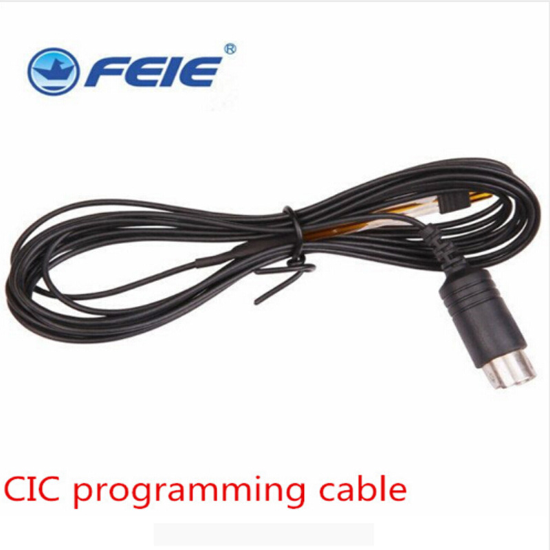 Cheap Digital hearing aid cable innovative products programmable cable compatible for all RIC BTE CIC hearing aids free shipping medical hearing aids stethoscope with couple testing bte ite itc cic hearing aids