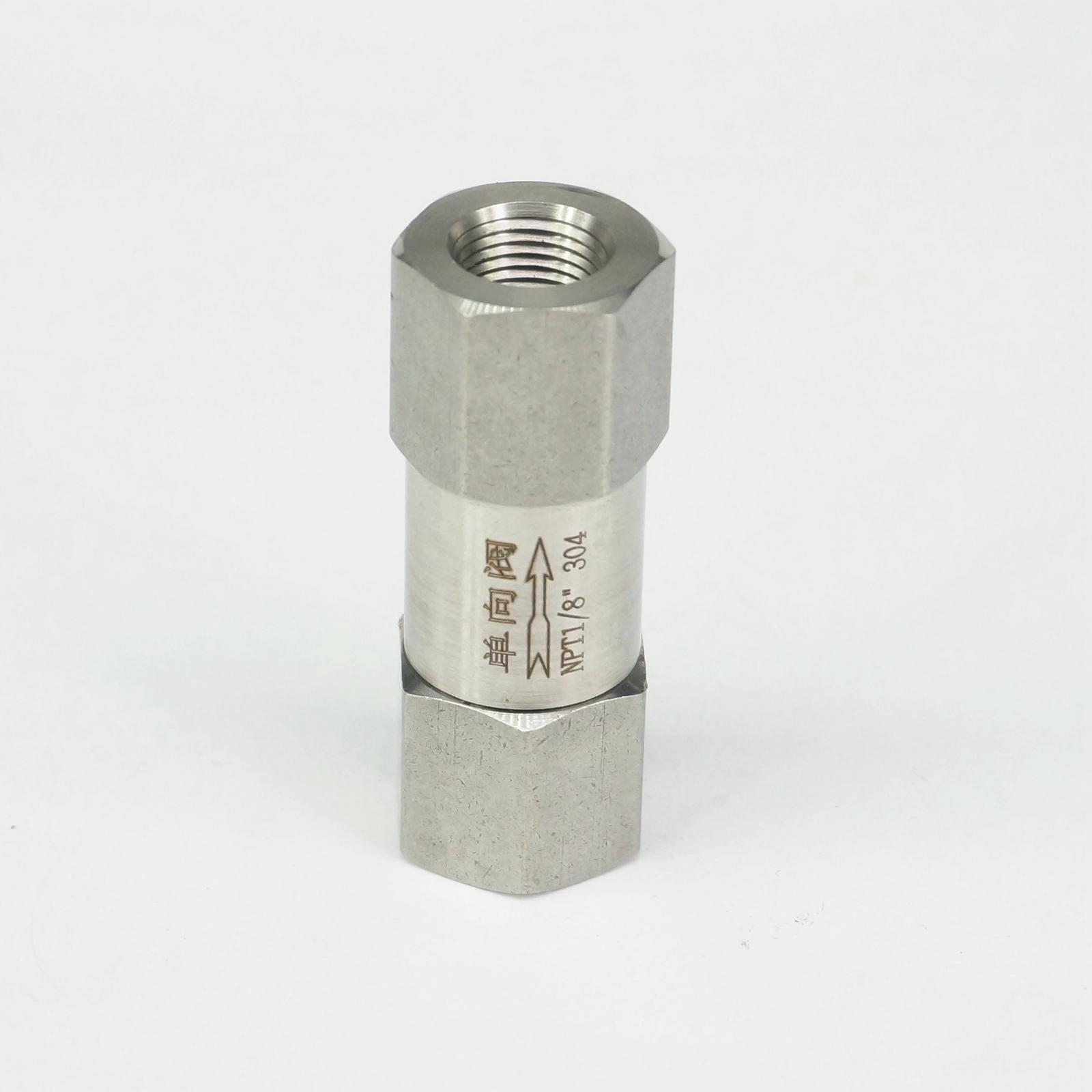 1/8 NPT Female Check One Way Valve 304 Stainless Steel Water Gas Oil Non-return