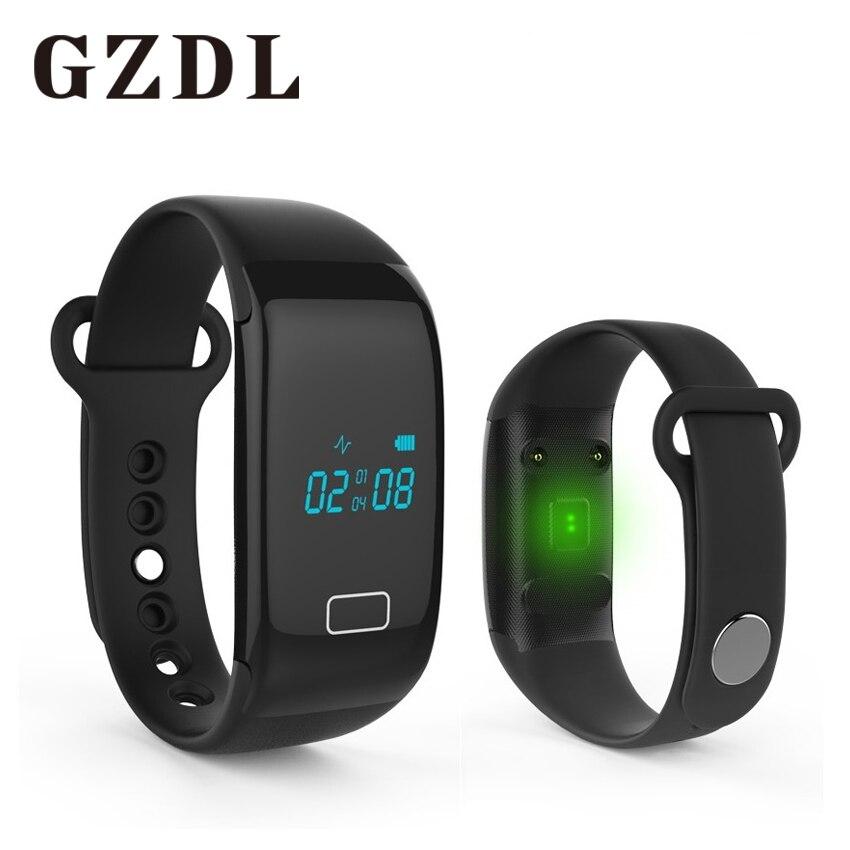 Gzdl <font><b>Bluetooth</b></font> SmartBand Спорт Браслет Смарт сердечного ритма Мониторы спортивный браслет шагомер для iOS iPhone Android WT8975