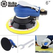 TORO 6 Inch Non-vacuum Matte Surface 9000rpm Pneumatic Polishing Machine Random Orbital with Sander Pad for Cars Polishing