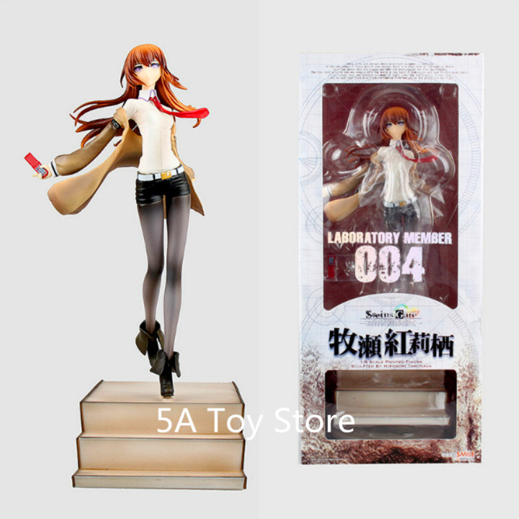 Anime Steins Gate Makise kurisu Stairs Ver PVC Action Figure Collectible Model Doll Toy 25cm Retial Box